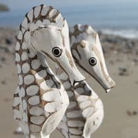 Seahorse Family | Wooden Seahorse | Hand Carved Seahorse